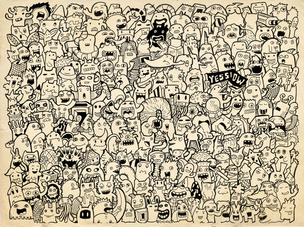 doodle__225_monster_on_doodle_art_by_yessiow-d76jrjp